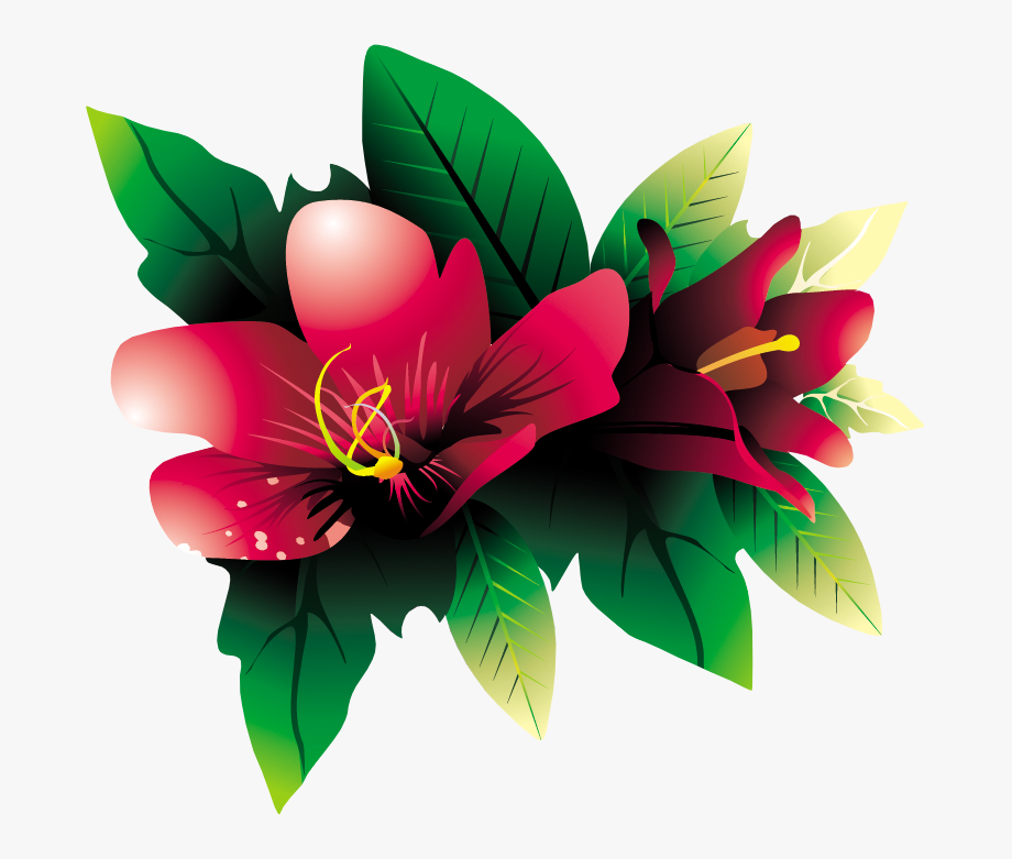 Clipart Flowers Tropical.