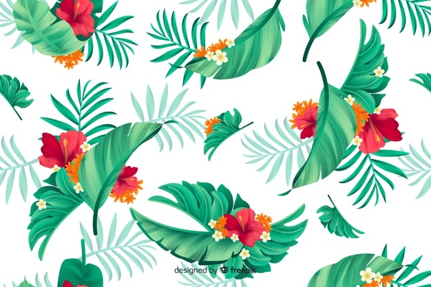 Tropical Flower Vectors, Photos and PSD files.