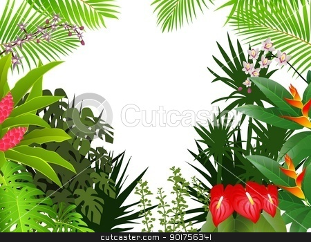 Tropical Forest Biome Clip Art.