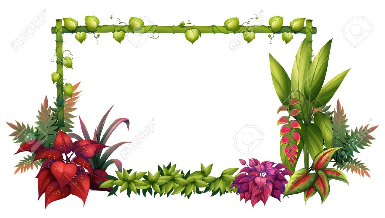 Illustration Of A Garden On A White Background Royalty Free.
