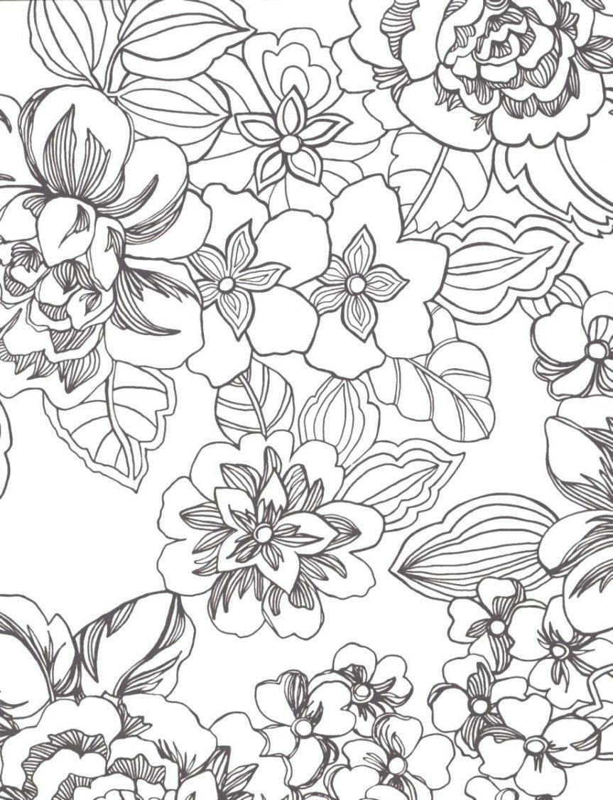 coloring ~ Coloring Impeccable Tropical Flower Pages O.