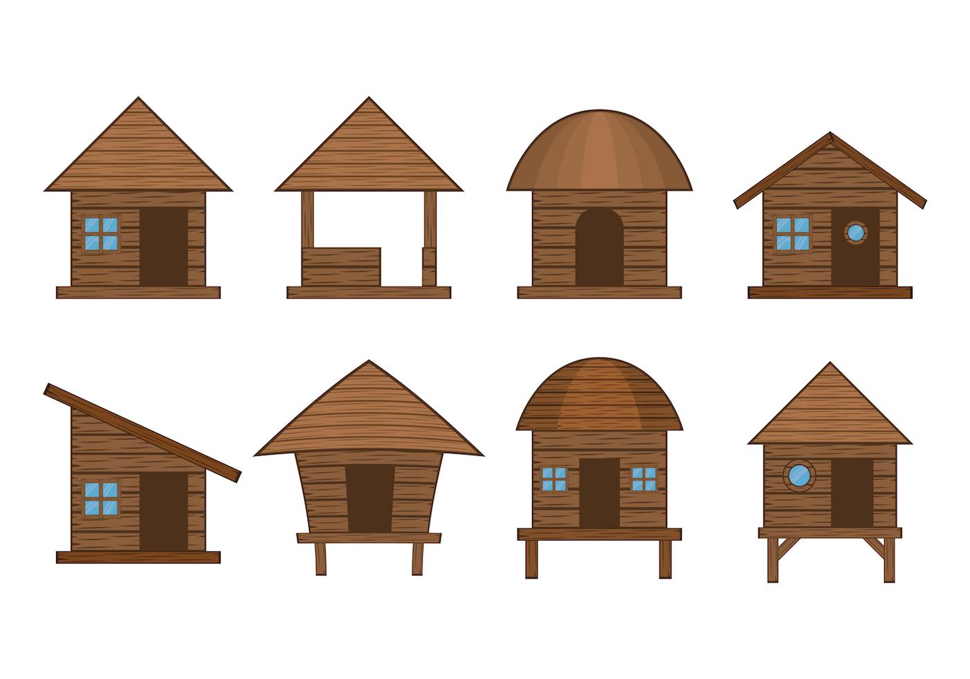 Hut Free Vector Art.