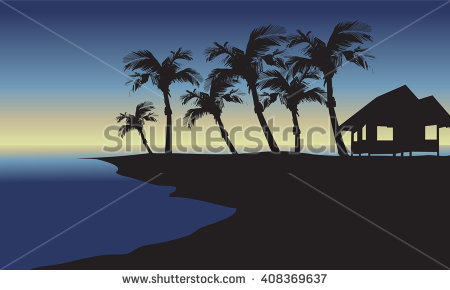 Tropical Hut Stock Images, Royalty.