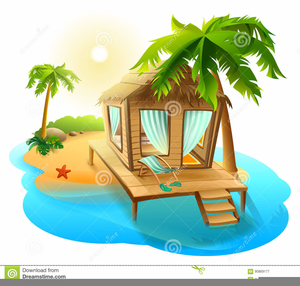 Cartoon Tropical Island Clipart.