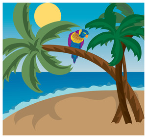 Tropical Island Clipart.