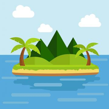 Tropical Island Png, Vector, PSD, and Clipart With.