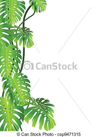 Tropical Plant Realistic Clipart.