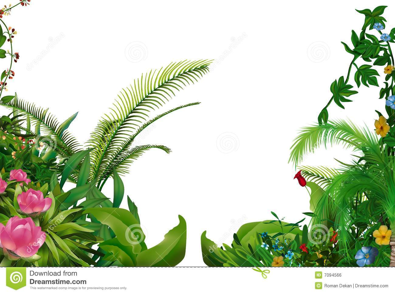 Tropical Plants Royalty Free Stock Image.