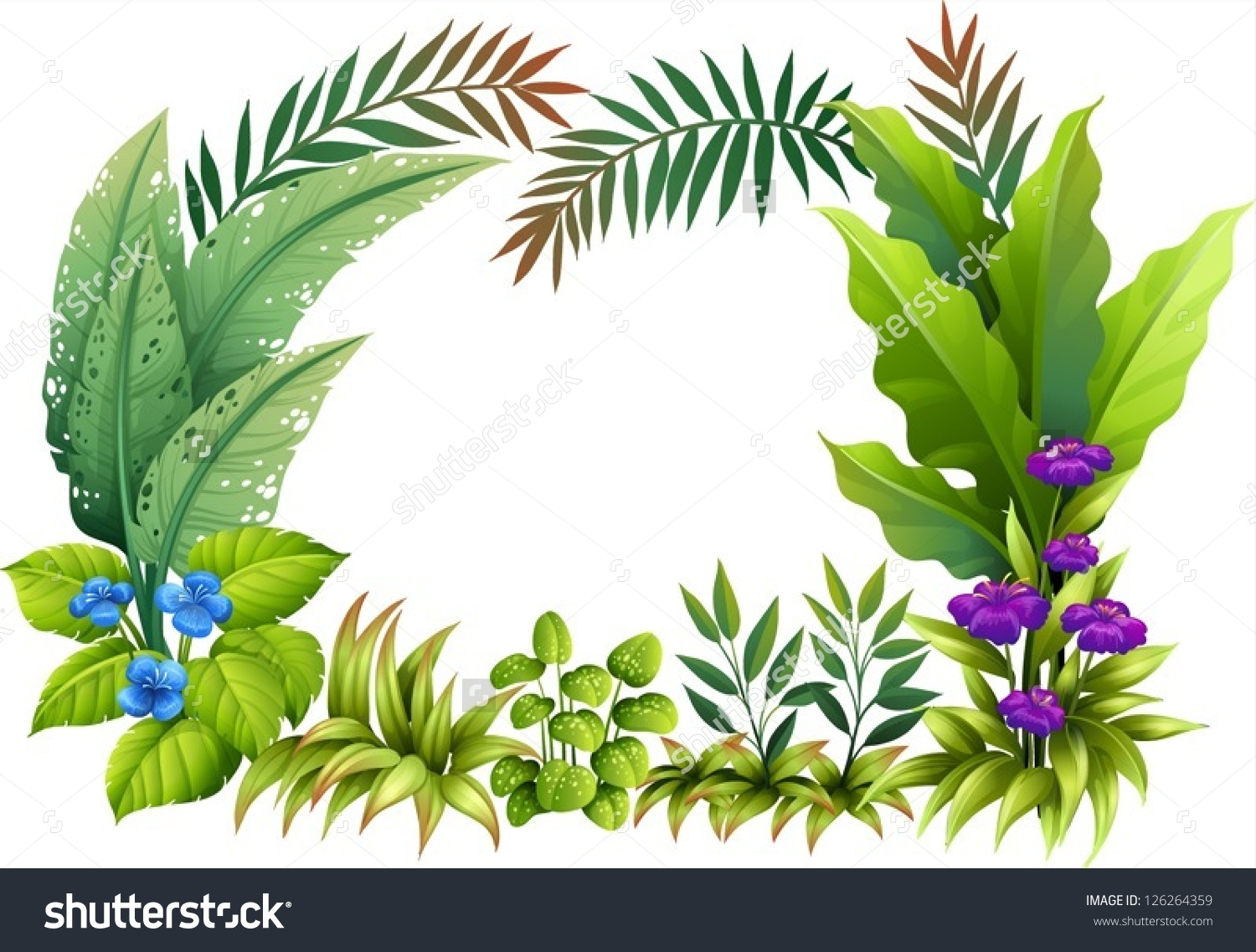 Tropical plants clipart.