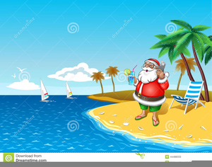 Tropical Santa Clipart Free.