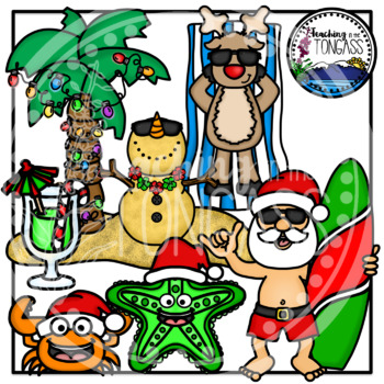 Tropical Christmas Clipart.