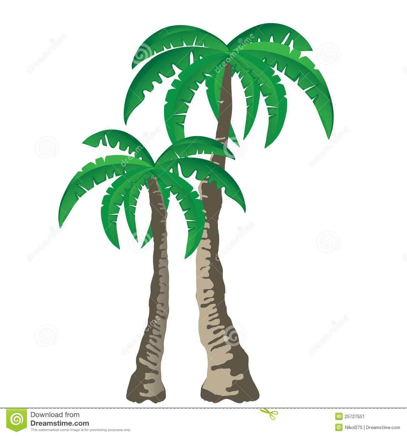 Tropical Palm Trees Clipart.