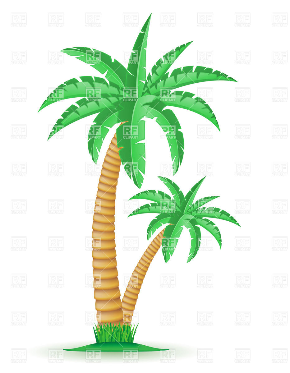 Tropical Trees Clipart.