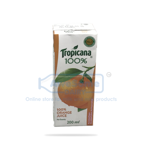 Tropicana 100% Orange Juice.