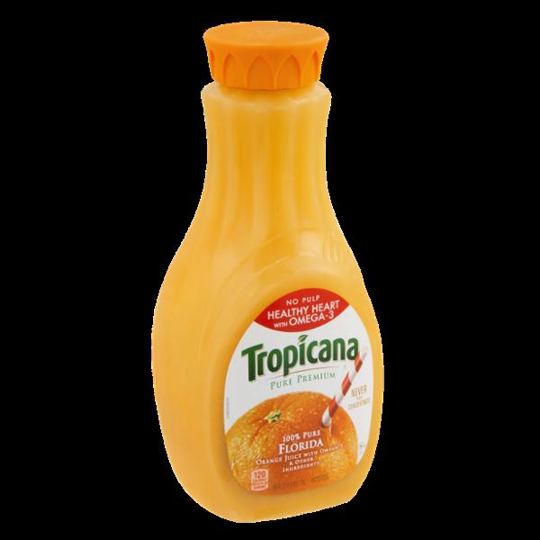 Tropicana® Pure Premium 100% Pure Florida Orange Juice No Pulp Healthy  Heart With Omega.