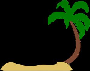 Tropical Beach Palm Tree Clip Art Clip art.