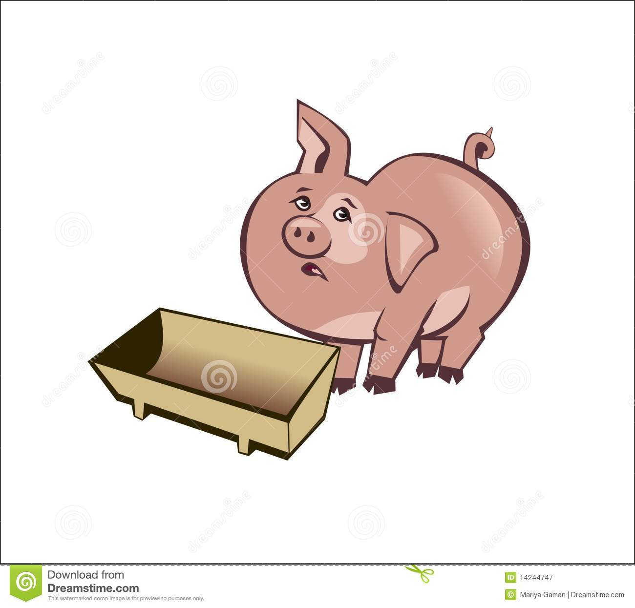Pig Trough Stock Illustrations.