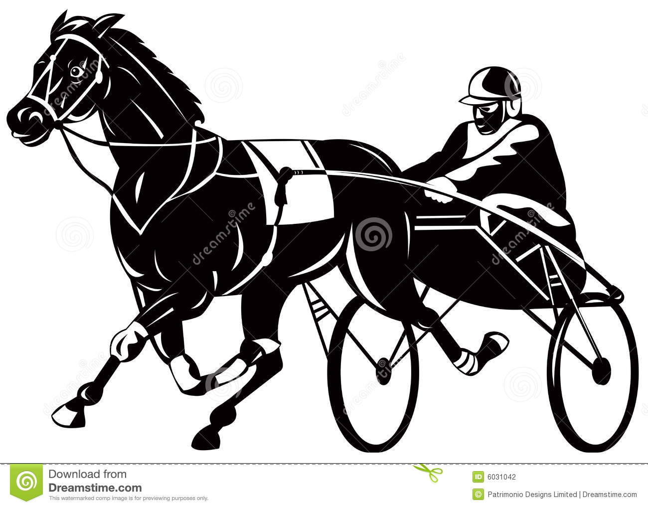 Harness racing clipart - Clipground