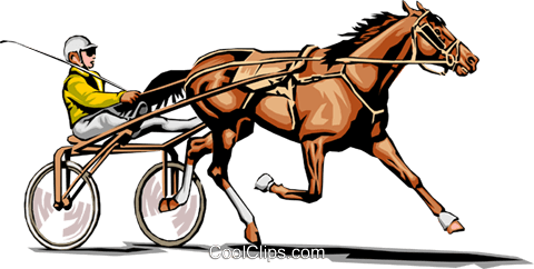 Trotter race horse Royalty Free Vector Clip Art illustration.