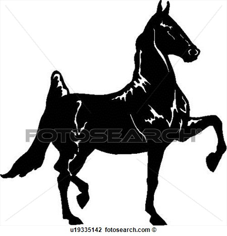 Horse trotting clipart.