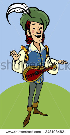 Troubadour Free vector in Open office drawing svg ( .svg ) vector.