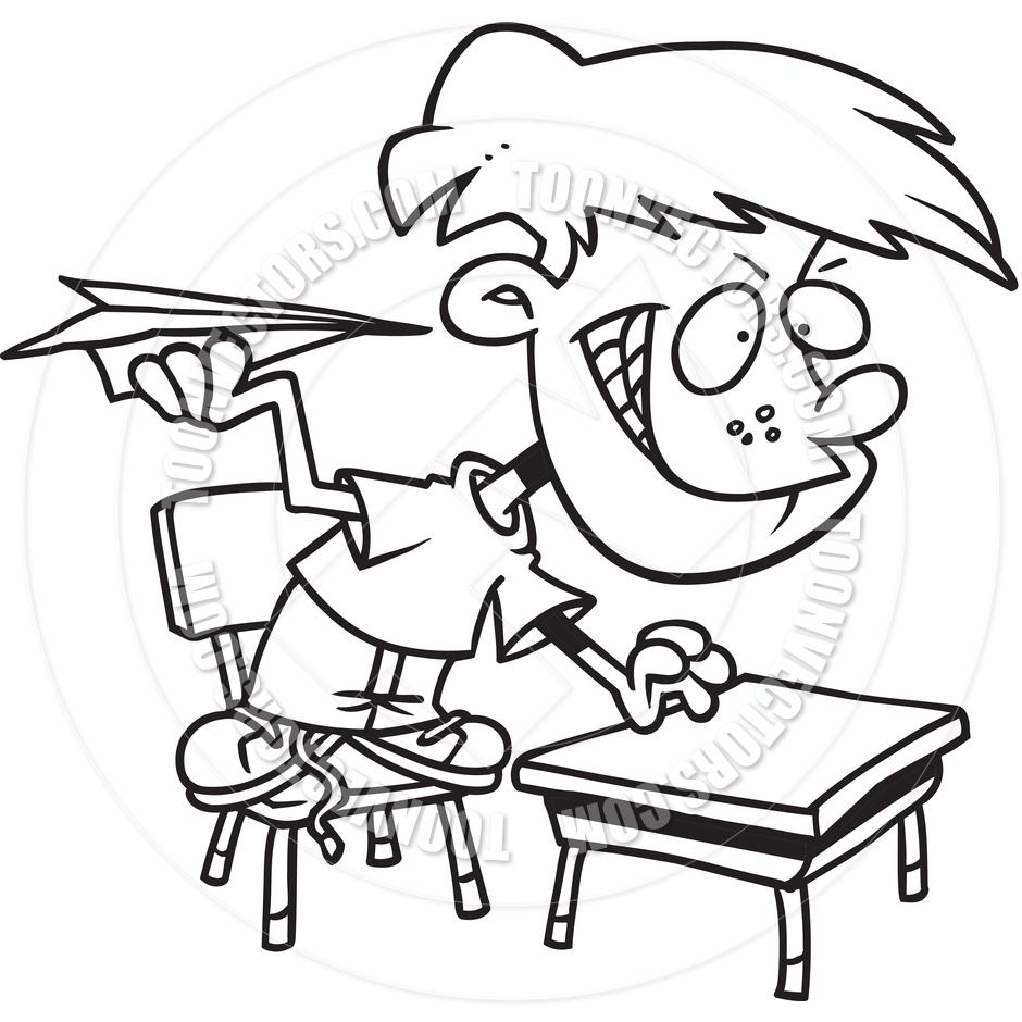 Cartoon Classroom Troublemaker.