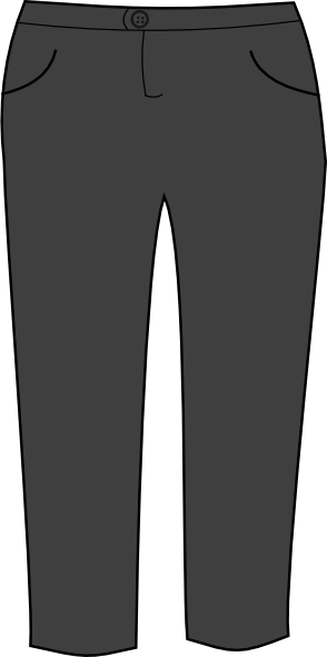 Clip Art With Black Pants Suit Clipart.