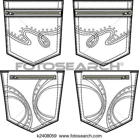 Clipart of stone embroidery for back pocket k2476540.