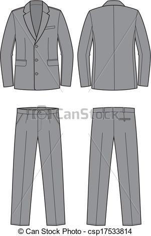 Clipart Mens Suit.