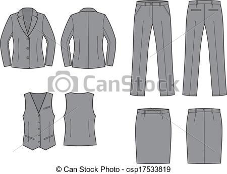 Vector Clip Art of Business suit.