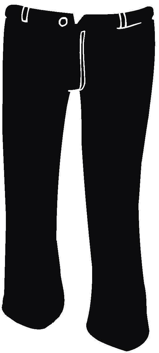 Clip Art Black Trousers Clipart.