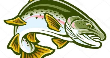 Jumping Trout Clip Art Archives ~ Vector Images Design.