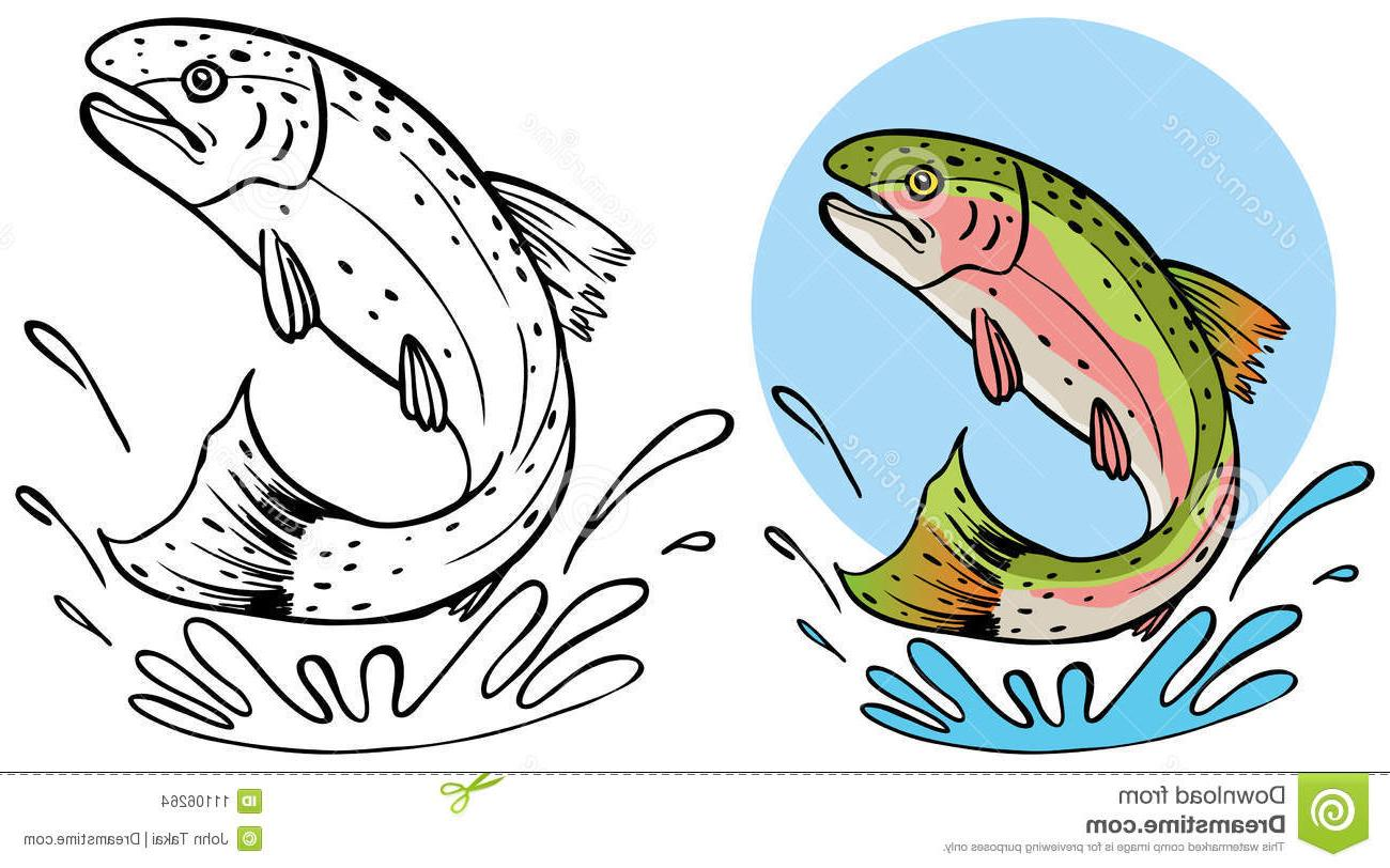 Top Trout Clip Art Black And White Images » Free Vector Art.