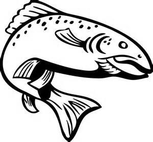 Trout Drawing Outline.