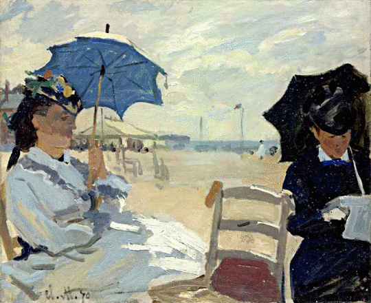 Monet The Beach at Trouville.