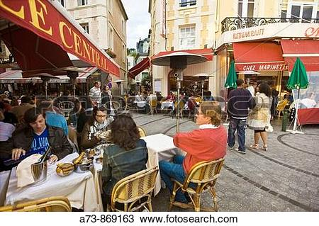 Stock Photo of View near Le Central Brasserie Restaurant.
