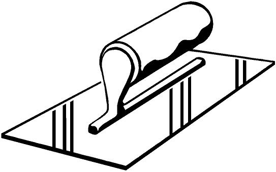 Masonry Trowel Black And White : Trowel clipart clipground
