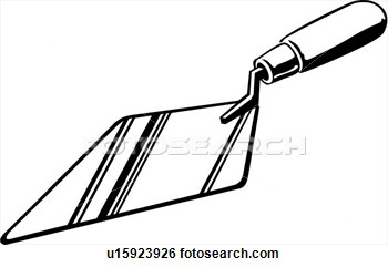 Make meme with Trowel And Tile Clipart.