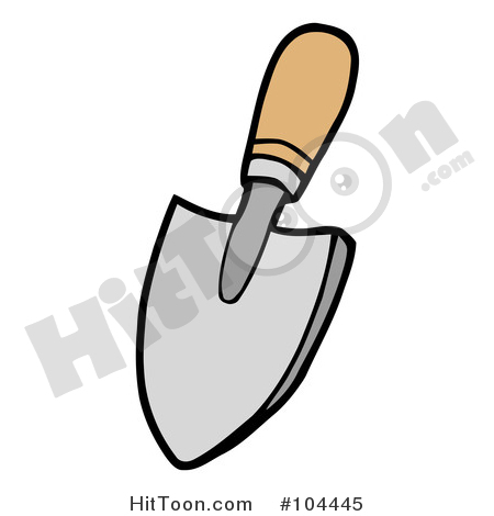 Gardening Tool Clipart #104445: Small Gardeners Hand Trowel by Hit.