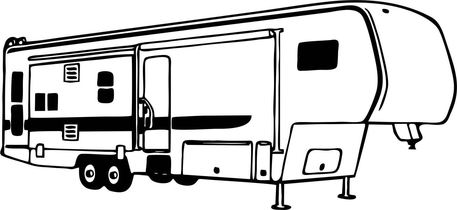Camping 5Th Wheel Rv Camper Car Truck Window Wall Laptop.
