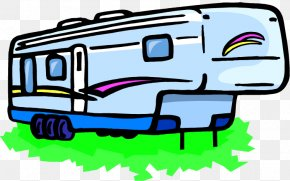 Pickup Truck Car Campervans Fifth Wheel Coupling Clip Art.