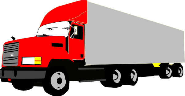 Truck and trailer clipart kid 3.