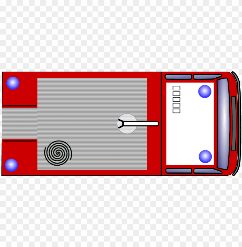 fire truck bird\'s eye view PNG image with transparent.