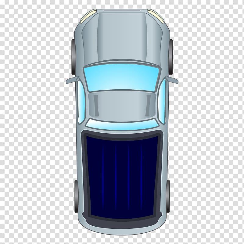 Gray pickup truck illustration, Car Bird\\\'s.