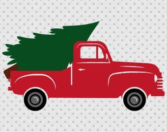 Image result for old truck hauling christmas tree clipart.