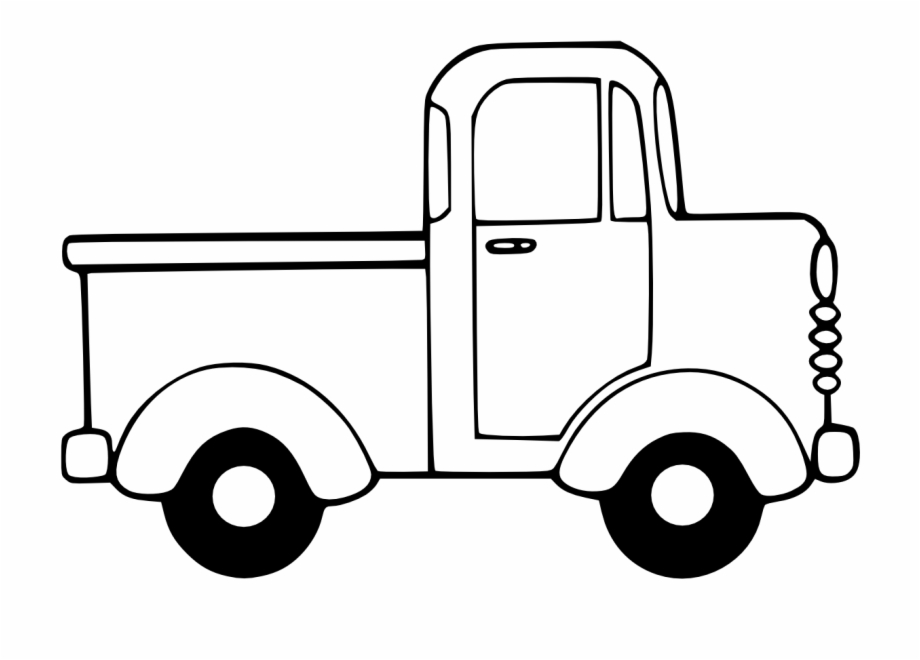 Semi Truck Clipart Black And White Free Clipart.