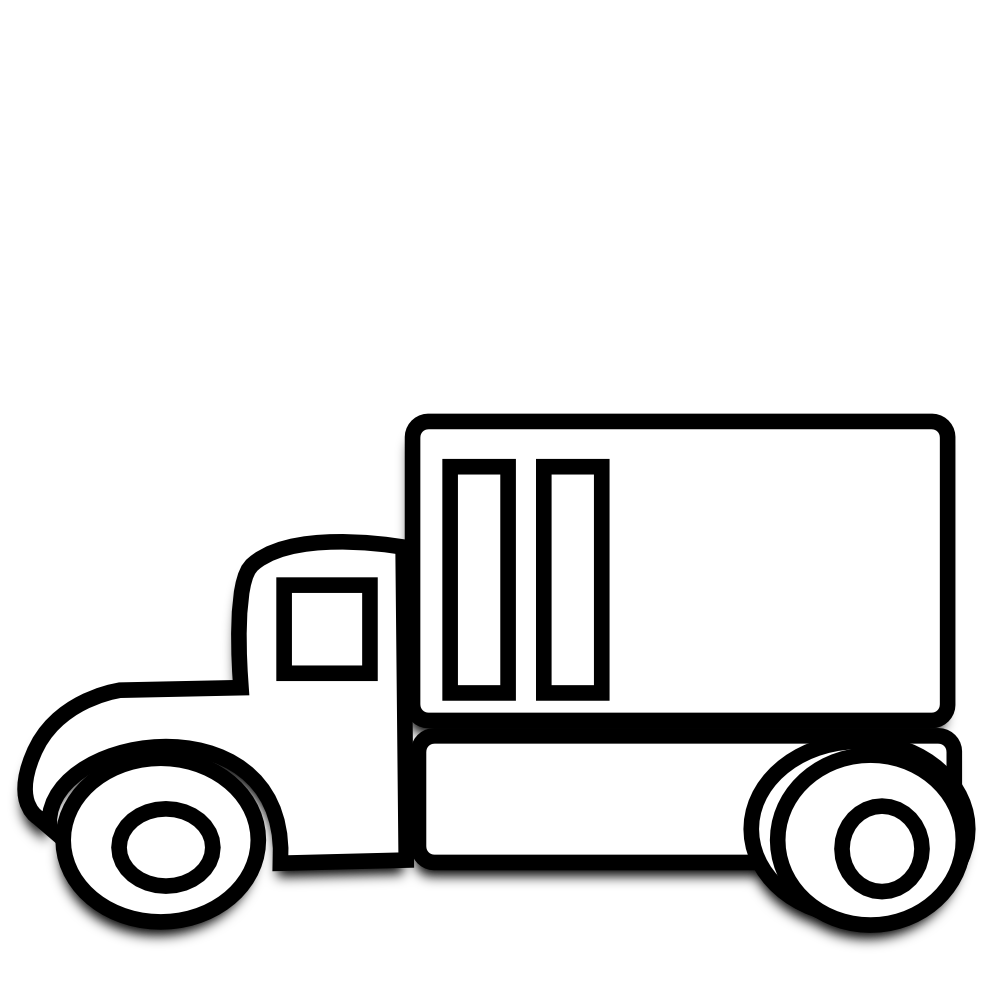 Truck black and white semi truck clipart black and white.