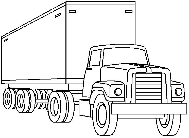 Truck Black And White Clipart.