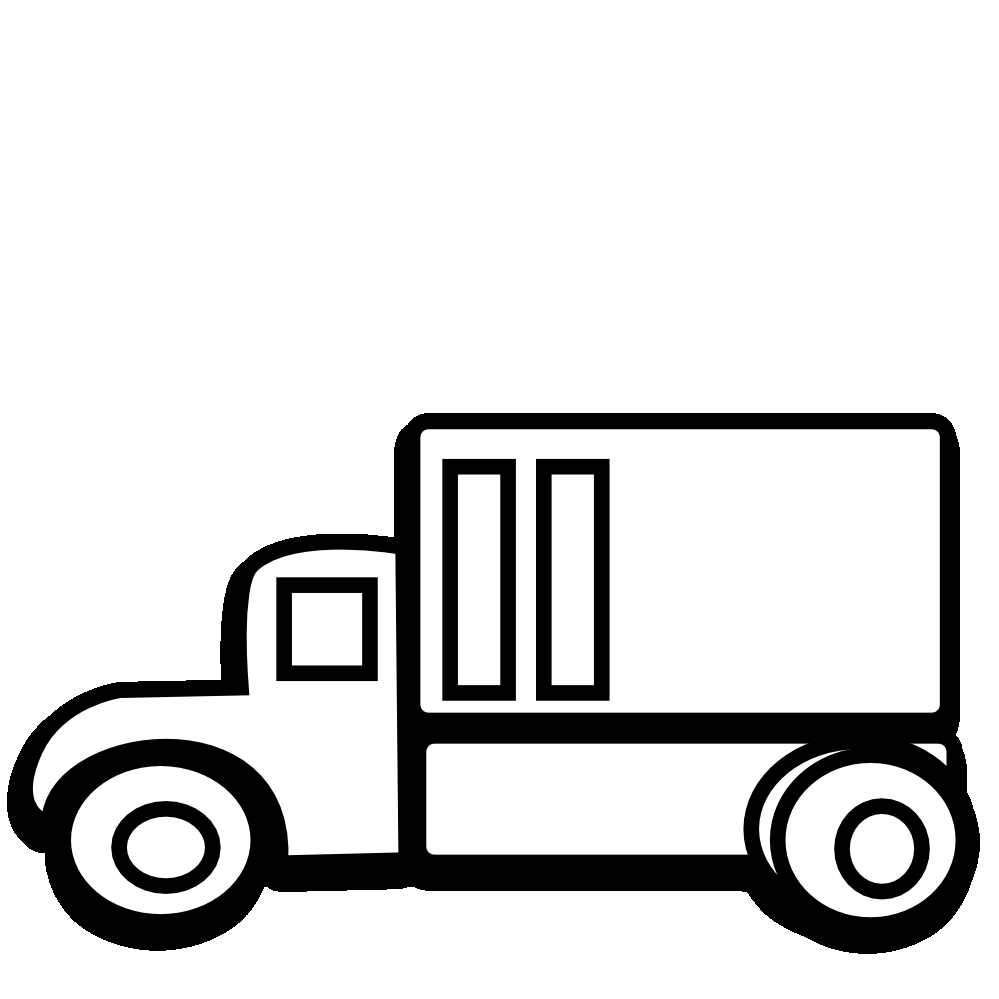 104+ Truck Clipart Black And White.
