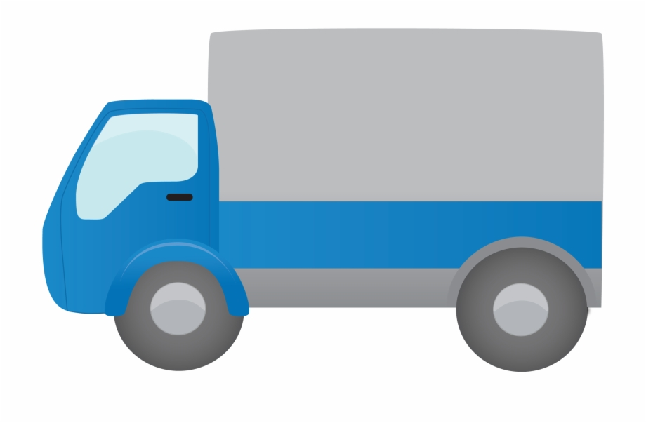 Truck Blue Moving Truck Clipart Png.